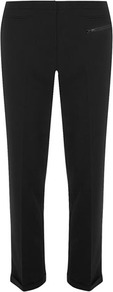 Black Zip Pocket Capri - length: standard; pattern: plain; style: capri; waist: mid/regular rise; predominant colour: black; occasions: evening, work; fibres: polyester/polyamide - stretch; fit: slim leg; pattern type: fabric; texture group: other - light to midweight