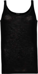 Ribbed Tank Top, Black - sleeve style: standard vest straps/shoulder straps; pattern: plain; style: vest top; predominant colour: black; occasions: casual, evening, work; length: standard; neckline: scoop; fibres: polyester/polyamide - 100%; fit: straight cut; sleeve length: sleeveless; texture group: knits/crochet; pattern type: knitted - other; pattern size: standard