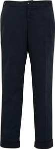 Sofia Relaxed Cargo Trousers - pattern: plain; waist: mid/regular rise; predominant colour: black; occasions: casual, evening, work; length: ankle length; fibres: cotton - stretch; jeans & bottoms detail: turn ups; texture group: cotton feel fabrics; fit: straight leg; pattern type: fabric; pattern size: standard; style: standard