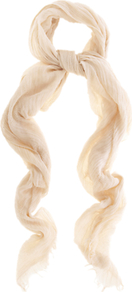 Casual Scarf, Mid Neutral - predominant colour: nude; occasions: casual, work, holiday; type of pattern: standard; style: regular; size: standard; material: fabric; embellishment: fringing; pattern: plain