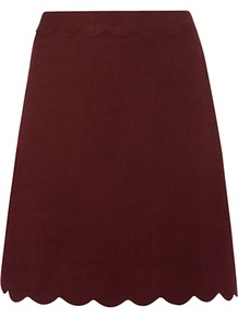 Morley Skirt - length: mid thigh; pattern: plain; fit: loose/voluminous; waist: mid/regular rise; predominant colour: burgundy; occasions: casual; style: a-line; fibres: viscose/rayon - 100%; pattern type: fabric; pattern size: standard; texture group: jersey - stretchy/drapey