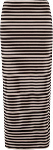 Black/Stone Striped Maxi Skirt - pattern: striped; length: ankle length; fit: body skimming; waist: mid/regular rise; secondary colour: stone; predominant colour: black; occasions: casual; style: maxi skirt; fibres: viscose/rayon - stretch; pattern type: fabric; pattern size: standard; texture group: jersey - stretchy/drapey