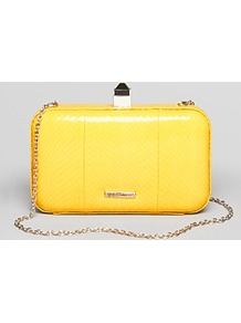 Clutch Watersnake Vincent Minaudiere - predominant colour: yellow; occasions: evening, occasion; type of pattern: light; style: clutch; length: hand carry; size: small; material: leather; pattern: animal print; finish: patent