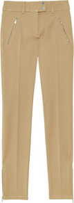 Scuba Twill Skinny Leg Pants - pattern: plain; waist: mid/regular rise; predominant colour: camel; occasions: casual, evening, work; length: ankle length; fibres: polyester/polyamide - stretch; fit: skinny/tight leg; pattern type: fabric; pattern size: standard; texture group: other - light to midweight; style: standard