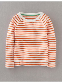 Breton Sweatshirt - neckline: round neck; pattern: horizontal stripes; style: sweat top; predominant colour: ivory; occasions: casual, holiday; length: standard; fibres: cotton - 100%; fit: straight cut; sleeve length: long sleeve; sleeve style: standard; pattern type: fabric; pattern size: standard; texture group: jersey - stretchy/drapey