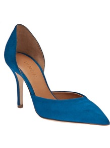 Celest Shoe - predominant colour: diva blue; occasions: evening, work, occasion; material: suede; heel height: high; heel: stiletto; toe: pointed toe; style: courts; finish: plain; pattern: plain
