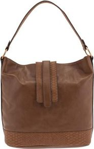 Camel Basic Snake Hand Bag - predominant colour: chocolate brown; occasions: casual, work; type of pattern: standard; style: tote; length: handle; size: standard; material: faux leather; pattern: plain; finish: plain