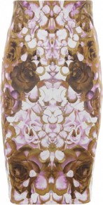 Light Pink Rose Petal Skirt Lt Pnk - style: pencil; fit: body skimming; waist: mid/regular rise; predominant colour: tan; occasions: casual, evening, work, occasion; length: on the knee; fibres: polyester/polyamide - stretch; trends: statement prints; pattern type: fabric; pattern size: big & busy; pattern: patterned/print; texture group: other - light to midweight