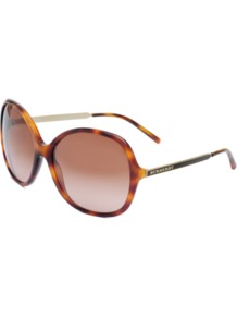 Sunglasses 4126 - predominant colour: chocolate brown; occasions: casual, evening, work, occasion, holiday; style: round; size: large; material: plastic/rubber; pattern: tortoiseshell; finish: plain