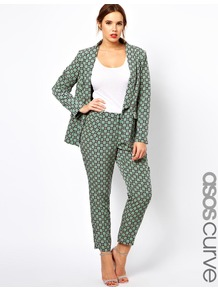 Curve Exclusive Trouser In Statement Geo - waist: mid/regular rise; predominant colour: pistachio; occasions: casual, work, holiday; length: ankle length; fibres: polyester/polyamide - 100%; hip detail: fitted at hip (bottoms); trends: modern geometrics; fit: slim leg; pattern type: fabric; pattern size: small & busy; pattern: patterned/print; texture group: woven light midweight; style: standard