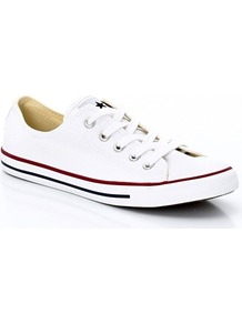 As Dainty Canvas Ox Trainers With Slim Sole - predominant colour: white; occasions: casual, holiday; material: fabric; heel height: flat; toe: round toe; style: trainers; trends: sporty redux; finish: plain; pattern: plain