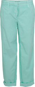 Cotton Chino Trousers - pattern: plain; waist: mid/regular rise; predominant colour: pistachio; occasions: casual; length: ankle length; style: chino; fibres: cotton - 100%; waist detail: narrow waistband; jeans & bottoms detail: turn ups; texture group: cotton feel fabrics; fit: straight leg; pattern type: fabric; pattern size: standard