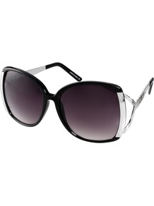 Kim Sunglasses - predominant colour: black; occasions: casual, holiday; style: square; size: large; material: plastic/rubber; pattern: plain; finish: plain