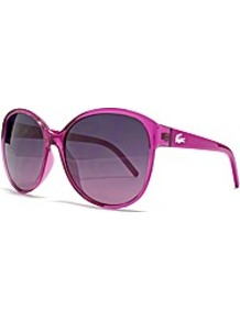 Cateye Sunglasses - predominant colour: hot pink; occasions: casual, evening, work, occasion, holiday; style: round; size: large; material: plastic/rubber; pattern: plain; trends: fluorescent; finish: plain