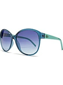 Cateye Sunglasses - predominant colour: turquoise; occasions: casual, evening, work, occasion, holiday; style: cateye; size: large; material: plastic/rubber; pattern: plain; trends: fluorescent; finish: plain