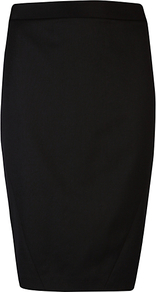Core Suit Skirt - pattern: plain; style: pencil; fit: tailored/fitted; waist detail: fitted waist; waist: high rise; predominant colour: black; occasions: evening, work, occasion; length: on the knee; fibres: wool - mix; pattern type: fabric; pattern size: standard; texture group: other - light to midweight