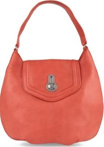 Evelyn Hobo - predominant colour: coral; occasions: casual, work; style: shoulder; length: shoulder (tucks under arm); size: oversized; material: leather; pattern: plain; finish: plain