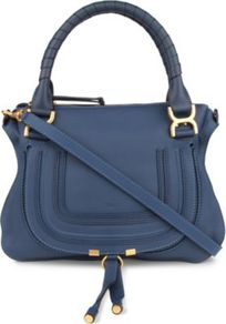 Marcie Medium Cross Body Bag - predominant colour: denim; occasions: casual, evening, work; type of pattern: standard; style: saddle; length: across body/long; size: standard; material: leather; embellishment: tassels; pattern: plain; finish: plain