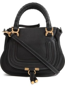 Marcie Mini Cross Body Bag - predominant colour: black; occasions: casual, evening, work; type of pattern: standard; style: shoulder; length: handle; size: standard; material: leather; pattern: plain; finish: plain