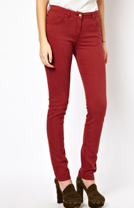 Nw3 Rustic Skinny Jeans - style: skinny leg; length: standard; pattern: plain; pocket detail: traditional 5 pocket; waist: mid/regular rise; predominant colour: terracotta; occasions: casual, work; fibres: cotton - stretch; jeans detail: dark wash; texture group: denim; pattern type: fabric