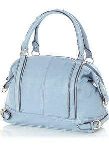 Blue Lotus Tatum Shopper Bag - predominant colour: pale blue; occasions: casual, work; type of pattern: standard; style: tote; length: handle; size: standard; material: faux leather; embellishment: studs; pattern: plain; finish: plain