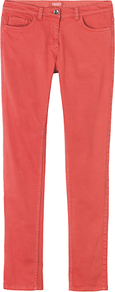 Coloured Skinny Jeans, Old Rose - style: skinny leg; length: standard; pattern: plain; pocket detail: traditional 5 pocket; waist: mid/regular rise; predominant colour: coral; occasions: casual; fibres: cotton - stretch; texture group: denim; pattern type: fabric; pattern size: standard