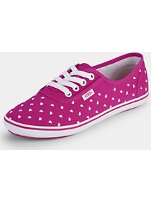 Cedar Heart Plimsolls, Red - predominant colour: magenta; occasions: casual; material: fabric; heel height: flat; toe: round toe; style: trainers; finish: plain; pattern: polka dot