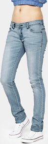 Plec V2 Skinny Jeans Light Wash - style: skinny leg; length: standard; pattern: plain; pocket detail: traditional 5 pocket; waist: mid/regular rise; predominant colour: denim; occasions: casual; fibres: cotton - stretch; jeans detail: shading down centre of thigh, washed/faded; texture group: denim; pattern type: fabric; pattern size: standard