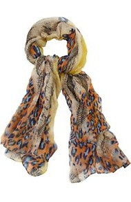 Leopard And Snake Print Scarf - occasions: casual, evening, work, holiday; predominant colour: multicoloured; type of pattern: heavy; style: regular; size: standard; material: fabric; pattern: animal print, patterned/print; trends: statement prints