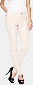 Skinny Stretch Jeans, White - style: skinny leg; length: standard; pocket detail: traditional 5 pocket; waist: mid/regular rise; predominant colour: ivory; occasions: casual, evening, holiday; fibres: cotton - stretch; texture group: denim; pattern type: fabric; pattern size: small & light; embellishment: embroidered