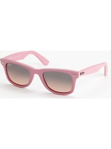 Matt Wayfarer Sunglasses, Pink - predominant colour: pink; occasions: casual, work, holiday; style: d frame; size: standard; material: plastic/rubber; embellishment: studs; pattern: plain; finish: plain