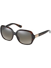 Diamante Detail Sunglasses, Brown - predominant colour: chocolate brown; occasions: casual, evening, work, occasion, holiday; style: square; size: large; material: plastic/rubber; embellishment: crystals, studs; pattern: tortoiseshell; finish: plain