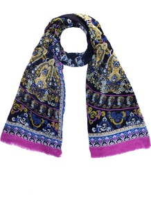 Medici Scarf - predominant colour: black; occasions: casual, work; type of pattern: heavy; style: regular; size: standard; material: fabric; pattern: patterned/print