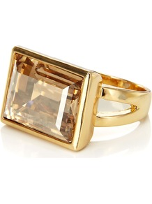 Carrick Ring - predominant colour: gold; occasions: evening, work, occasion; style: cocktail; size: large/oversized; material: chain/metal; finish: metallic; embellishment: chain/metal, jewels