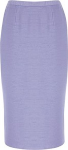 Lilac Tailored Pencil Skirt - pattern: plain; style: pencil; fit: tailored/fitted; waist: mid/regular rise; predominant colour: lilac; occasions: evening, occasion; length: on the knee; fibres: polyester/polyamide - mix; pattern type: fabric; pattern size: standard; texture group: woven light midweight