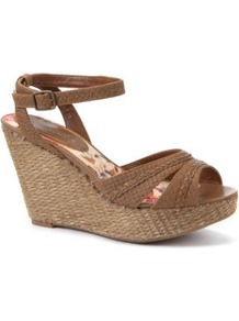 Tan Snake Effect Strappy Wedge Sandals - predominant colour: taupe; occasions: casual, evening, holiday; material: faux leather; heel height: high; embellishment: buckles; ankle detail: ankle strap; heel: wedge; toe: open toe/peeptoe; style: strappy; finish: plain; pattern: plain
