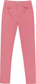 Smith Coloured Skinny Jeans - style: skinny leg; length: standard; pattern: plain; pocket detail: traditional 5 pocket; waist: mid/regular rise; predominant colour: pink; occasions: casual; fibres: cotton - stretch; texture group: denim; pattern type: fabric; pattern size: standard