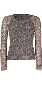 Black/Multi Lory Sweater - neckline: round neck; pattern: plain; style: standard; predominant colour: mid grey; occasions: casual, work; length: standard; fibres: cotton - mix; fit: standard fit; sleeve length: long sleeve; sleeve style: standard; texture group: knits/crochet; pattern type: knitted - other; pattern size: standard