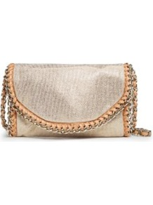 Touch Chains Metallic Bag - predominant colour: gold; occasions: evening; style: shoulder; length: across body/long; size: small; material: fabric; pattern: plain; trends: metallics; finish: metallic; embellishment: chain/metal