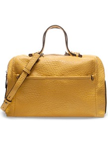 Bowling Bag - predominant colour: mustard; occasions: casual, work; type of pattern: standard; style: bowling; length: handle; size: standard; material: faux leather; pattern: plain; finish: plain