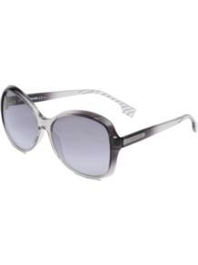 Bo 0061/S Sunglasses - predominant colour: black; occasions: casual, holiday; style: round; size: large; material: plastic/rubber; pattern: two-tone; finish: plain