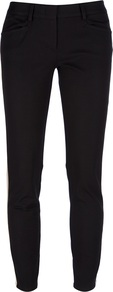 Tuxedo Skinny Trouser - pattern: vertical stripes; pocket detail: small back pockets; waist: mid/regular rise; predominant colour: black; occasions: casual, evening; length: ankle length; fibres: cotton - stretch; texture group: cotton feel fabrics; fit: skinny/tight leg; pattern type: fabric; pattern size: standard; style: standard