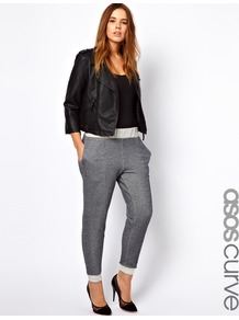 Curve Basic Fleck Jogger - length: standard; pattern: plain, patterned/print; style: tracksuit pants; waist detail: elasticated waist; pocket detail: pockets at the sides; waist: mid/regular rise; predominant colour: charcoal; occasions: casual, evening; fibres: cotton - 100%; jeans & bottoms detail: turn ups; fit: slim leg; pattern type: fabric; pattern size: small & light; texture group: jersey - stretchy/drapey