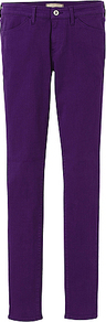 Women Ultra Stretch Colour Jeans A 76 Purple - style: skinny leg; length: standard; pattern: plain; pocket detail: traditional 5 pocket; waist: mid/regular rise; predominant colour: purple; occasions: casual; fibres: cotton - stretch; texture group: denim; pattern type: fabric; pattern size: standard