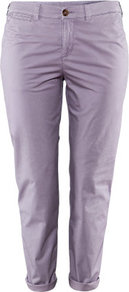 + Chinos - pattern: plain; waist: mid/regular rise; predominant colour: lilac; occasions: casual, holiday; length: ankle length; style: chino; fibres: cotton - stretch; jeans & bottoms detail: turn ups; texture group: cotton feel fabrics; fit: slim leg; pattern type: fabric; pattern size: standard
