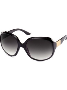Sunglasses - predominant colour: black; occasions: casual, holiday; style: square; size: large; material: plastic/rubber; pattern: plain; finish: plain