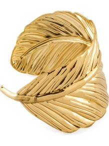 Bracelet - predominant colour: gold; occasions: casual, evening, occasion; style: cuff; size: standard; material: chain/metal; trends: metallics; finish: metallic