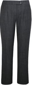 Women's Dark Grey Textured Trouser, Black - length: standard; pattern: plain; waist detail: fitted waist; pocket detail: small back pockets; waist: mid/regular rise; predominant colour: charcoal; occasions: casual, evening, work; fibres: wool - mix; hip detail: fitted at hip (bottoms); fit: straight leg; pattern type: fabric; pattern size: small & light; texture group: woven light midweight; style: standard