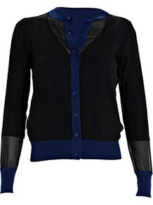 Reversible Cardigan Royal Blue - neckline: round neck; pattern: plain; predominant colour: royal blue; occasions: casual, work; length: standard; style: standard; fibres: silk - mix; fit: standard fit; sleeve length: long sleeve; sleeve style: standard; texture group: knits/crochet; pattern type: knitted - fine stitch; pattern size: standard