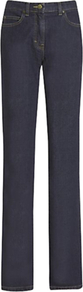 Parallel Leg Jeans, Indigo - style: straight leg; length: standard; pattern: plain; pocket detail: traditional 5 pocket; waist: mid/regular rise; predominant colour: navy; occasions: casual; fibres: cotton - stretch; jeans detail: dark wash; texture group: denim; pattern type: fabric; pattern size: standard